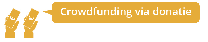 Crowdfunding via donaties