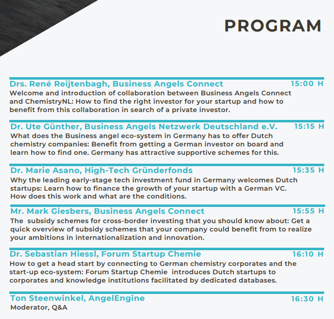 Programma Opportunities for Dutch companies in the German Chemistry sector