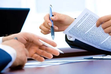 de zakelijke lening in een contract vastleggen